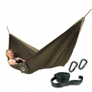 Blue Sky Outdoor Couple's Double Hammock, with Free Tree Straps